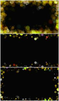 金色光斑粒子框视频素材