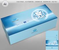 蓝色简约义齿包装彩盒设计