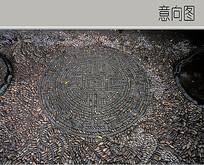 卵石古典图案铺装