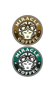 美杜莎头像咖啡厅标志设计