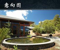 民宿庭院水景 JPG