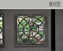 生态树枝状环形图案漏窗