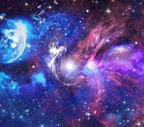 星空宇宙银河系素材 PSD