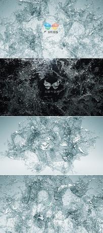 液体水花流动标志演绎片头模板