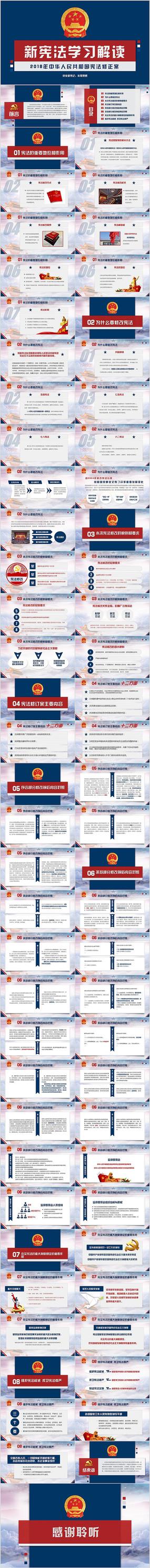 2018宪法修正案学习新宪法PPT