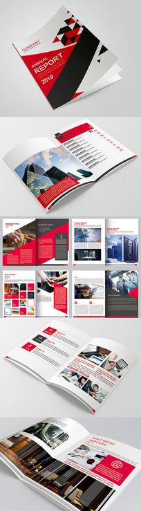 大气企业画册设计模板