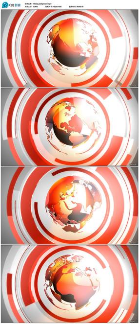 高清新闻地球背景视频