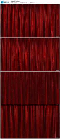 红色舞台幕布背景视频