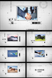 简洁线圈科技企业宣传AE模板