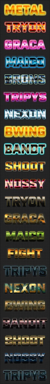 炫酷3D立体字体样式文字