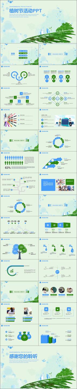 绿色环保宣传活动PPT模板