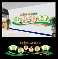 学校餐厅文化墙