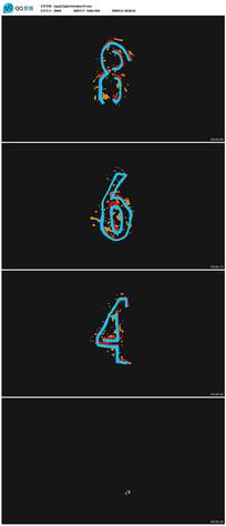 液体动画数字倒计时视频