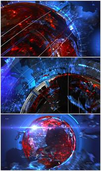 转动的新闻地球背景视频素材 mov