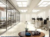 办公室装修设计3D模型 max