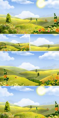 春天在哪里六一儿歌卡通背景 mp4