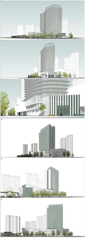 高层酒店建筑模型