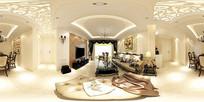 欧式风格室内装修全景模型