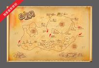 手绘研学教育农场地图 CDR
