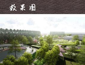 雨水花园景观鸟瞰图