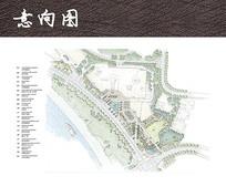 滨海公园景观手绘平面