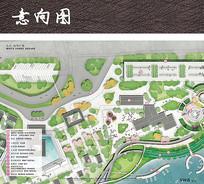 滨水公园入口景观平面图 JPG