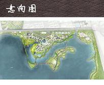 滨水绿道公园总平面图