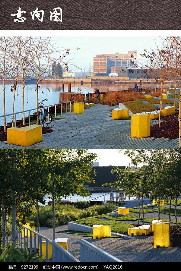 滨水休闲广场景观意向图图片