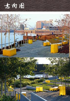 滨水休闲广场景观意向图