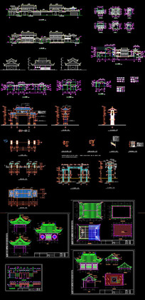 传统建筑CAD图