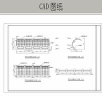 单侧弯曲风藤架 CAD