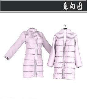 粉色羽绒服3D模型