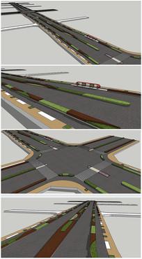 公路道路景观规划SU模型
