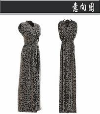 黑色金丝连衣裙3D模型