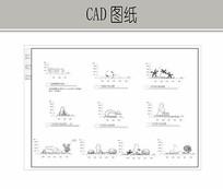 假山植物CAD立面图