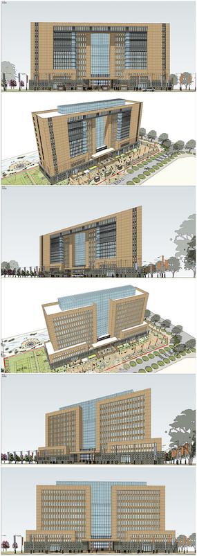 精品政府办公楼草图模型
