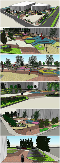 某广场景观规划SU模型