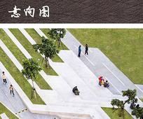 台阶植物广场景观