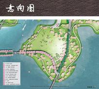 桃花岛公园彩色平面图