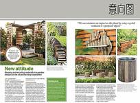 庭院木质景观小品意向图
