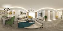 现代风格客厅装修设计3D模型