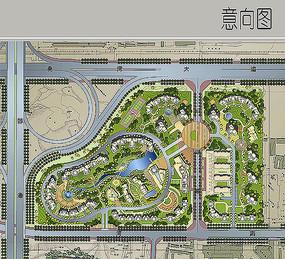 住宅区景观彩平图 JPG