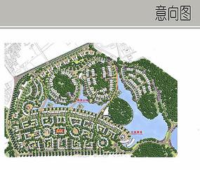 住宅区景观设计彩平