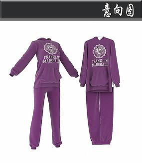 紫色卫衣3D模型