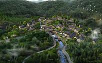 别墅区景观设计鸟瞰