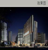 滨江花园城夜景效果图