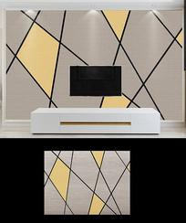 抽象几何线条色块空间背景墙