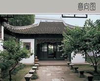 古典园林庭院道路景观设计