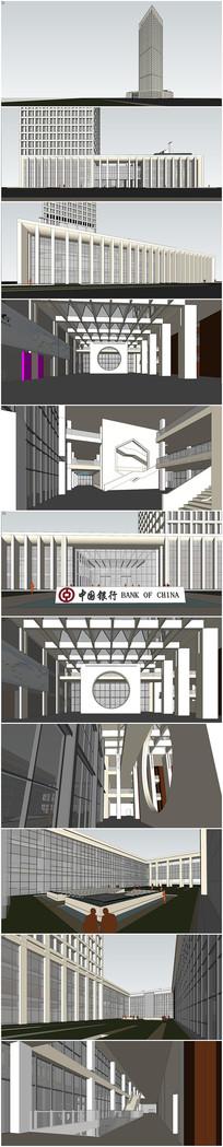 精品中国银行SU模型