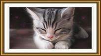 可爱猫咪室内装饰画